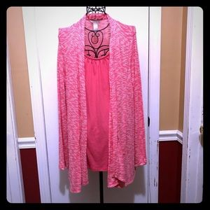 White Stag Pink Cardigan Blouse Large